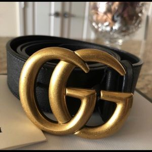 Gucci Double G leather belt size 85